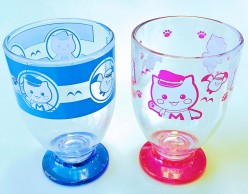 マリにゃんプラスチックグラス補正