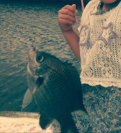 生まれて初めて釣った!