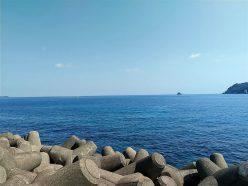 伊東の海と手石島